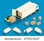 loading cargo in the truck... | Shutterstock .eps vector #479515237