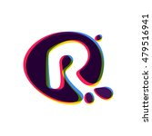 letter r logo with color shift. ... | Shutterstock .eps vector #479516941