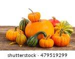 pile of raw orange pumpkins... | Shutterstock . vector #479519299