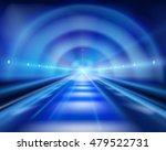 Long Tunnel. Vector...