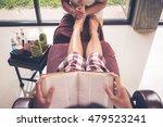 woman receiving and relaxing... | Shutterstock . vector #479523241