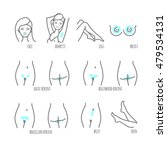 area hair removal icon set ... | Shutterstock .eps vector #479534131