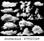 set of clouds white on isolated ... | Shutterstock . vector #479537269