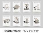 coffee vector poster set.... | Shutterstock .eps vector #479543449