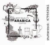 coffee vector set.... | Shutterstock .eps vector #479543461