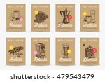 coffee vector poster set.... | Shutterstock .eps vector #479543479