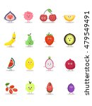 funny fruit characters cartoon... | Shutterstock .eps vector #479549491