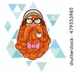 cartoon illustration of hipster. | Shutterstock .eps vector #479553985