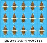 drakkar. paddle board frame by... | Shutterstock .eps vector #479565811