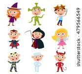 vector set of children in... | Shutterstock .eps vector #479566549