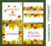 white blank on autumn... | Shutterstock .eps vector #479569027