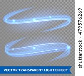 Vector Blue Magic Glowing Ligh...