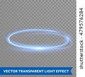 Vector Blue Light Trail Circle. ...
