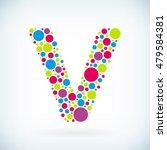 modern letter v circle stroke... | Shutterstock .eps vector #479584381