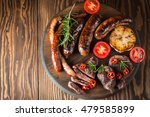 close up photo of mixed grilled ... | Shutterstock . vector #479585899