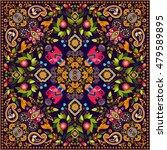 design for square pocket  shawl ... | Shutterstock .eps vector #479589895
