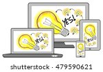 ideas concept on different...   Shutterstock . vector #479590621