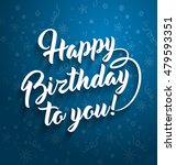 happy birthday greeting... | Shutterstock . vector #479593351