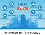 smart city vector concept... | Shutterstock .eps vector #479600029
