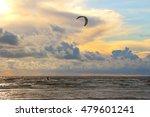 Kitesurfer At Sunset On Finnis...