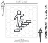 walk up stairs symbol vector... | Shutterstock .eps vector #479607721