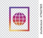 globe icon. globe sign vector. | Shutterstock .eps vector #479607805