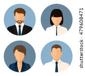 set of icons  business people ... | Shutterstock .eps vector #479608471