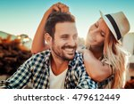 smiling couple in love outdoors | Shutterstock . vector #479612449
