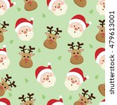 christmas seamless pattern with ... | Shutterstock .eps vector #479613001
