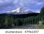The Peak Of Mount Hood Breaks...