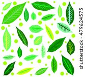 leaves pattern background | Shutterstock .eps vector #479624575