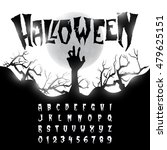 halloween font  letters and... | Shutterstock .eps vector #479625151