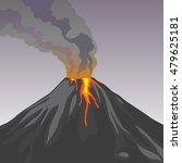 crater mountain volcano hot... | Shutterstock .eps vector #479625181