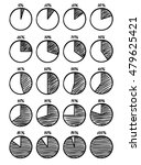 hand drawn felt tip pen pie... | Shutterstock . vector #479625421