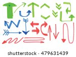 marker arrows  different colors ... | Shutterstock .eps vector #479631439