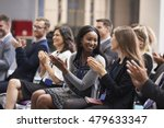 audience applauding speaker... | Shutterstock . vector #479633347