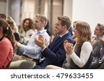 audience applauding speaker... | Shutterstock . vector #479633455