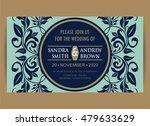 beautiful wedding invitation... | Shutterstock .eps vector #479633629