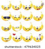 Banana Set Of Funny Smiles....