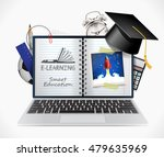 e learning   smart on line... | Shutterstock .eps vector #479635969