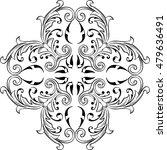 baroque fine art swirl rosette... | Shutterstock .eps vector #479636491