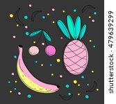 cute fruit composition....   Shutterstock .eps vector #479639299