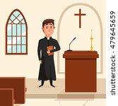 christian catholic priest... | Shutterstock .eps vector #479645659