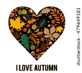 Vector Pattern With Autumn...