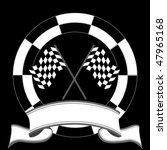 race emblem with rally flags...   Shutterstock .eps vector #47965168