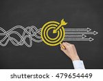 goal solution concept on... | Shutterstock . vector #479654449