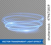 vector blue circle light line... | Shutterstock .eps vector #479671819