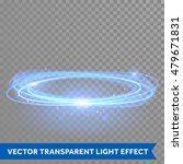 Vector Blue Circle Light With...