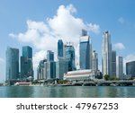 The Skyline Of Singapore...