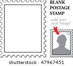 vector blank classic postage... | Shutterstock .eps vector #47967451